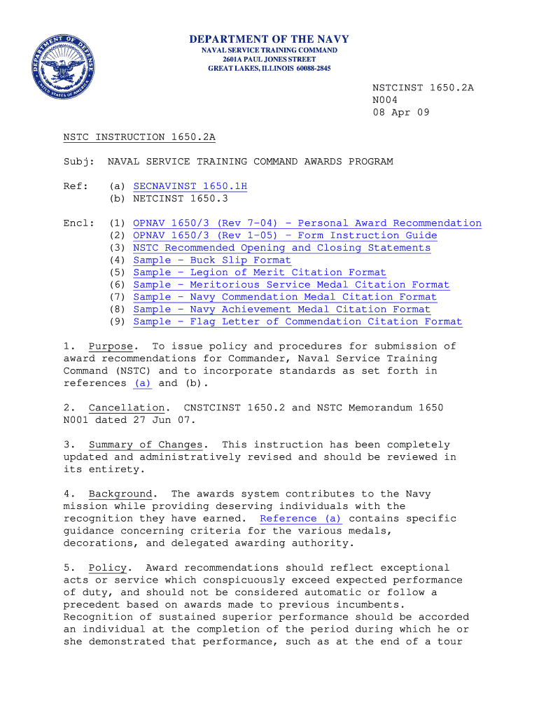 Achievement Medal Citation Fill Online Printable