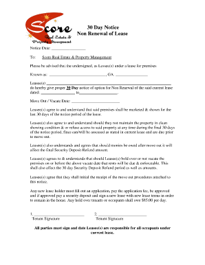 lease renewal notice fill online printable fillable blank