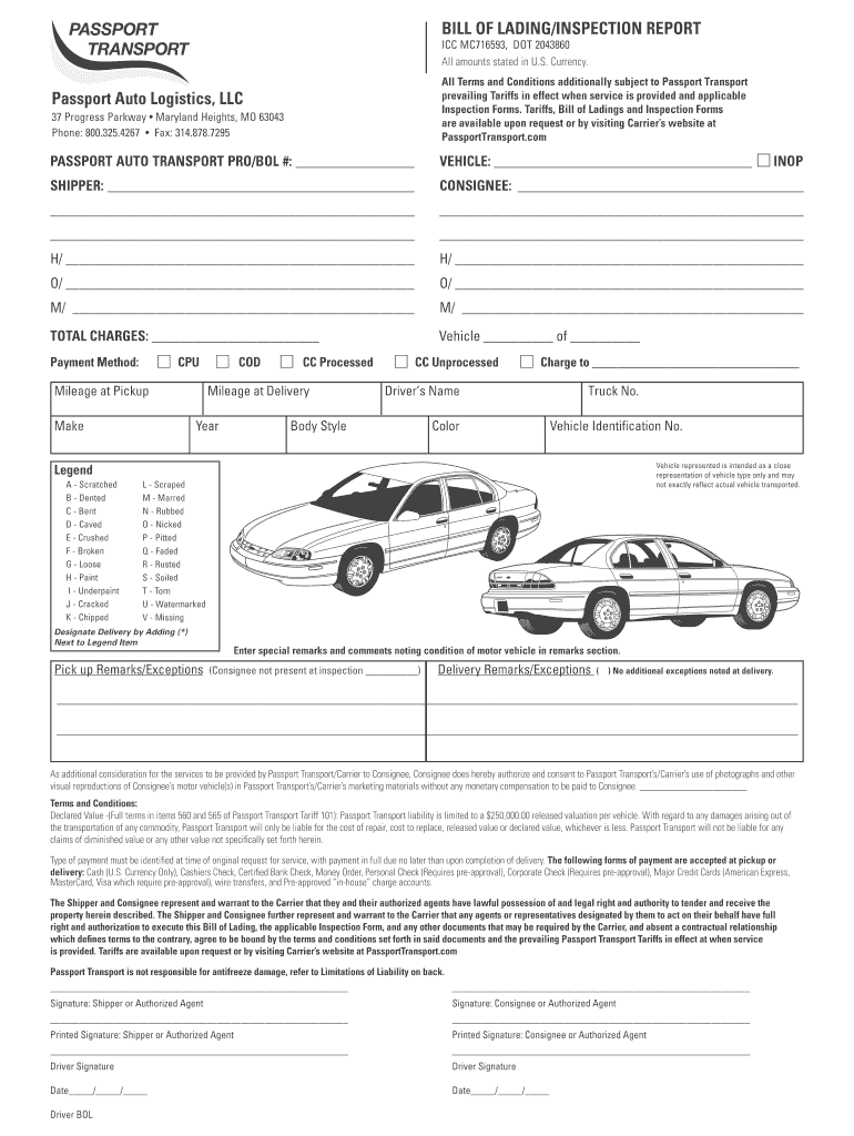 photo regarding Printable Bill of Lading named Car or truck Invoice Lading - Fill On-line, Printable, Fillable, Blank