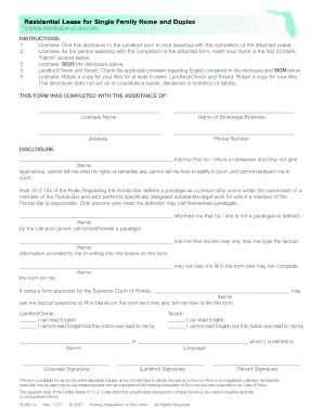 Florida Realtors Lease Fill Online Printable Fillable