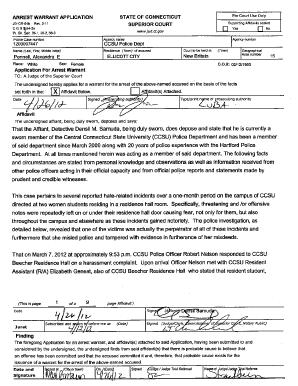 Aarest Warrent Application