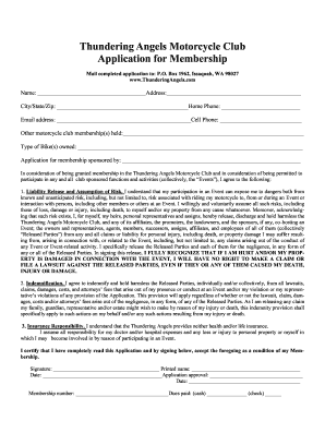 motorcycle club application form Registration Process Of Biker Club - Fill Online, Printable ...
