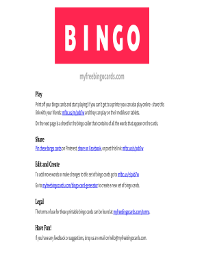 Bingo Card Generator 1 75 - Fill Online, Printable, Fillable ...