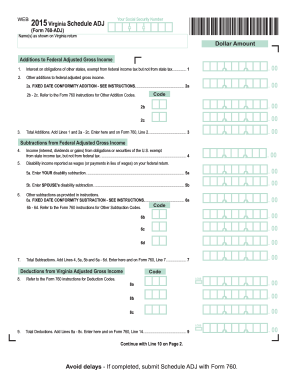 2015-2017 Form VA 760-ADJ Fill Online, Printable, Fillable, Blank ...