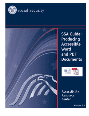 Fillable online ssa ssa guide producing accessible word for Accessible pdf documents