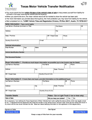 Texas affidavit of motor vehicle gift transfer lamoureph for Texas motor vehicle transfer notification