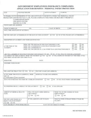 Geico Form Claims - Fill Online, Printable, Fillable, Blank ...
