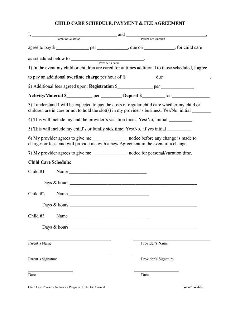 graphic relating to Babysitter Forms Printable Free named Babysitter Deal Pdf - Fill On-line, Printable, Fillable