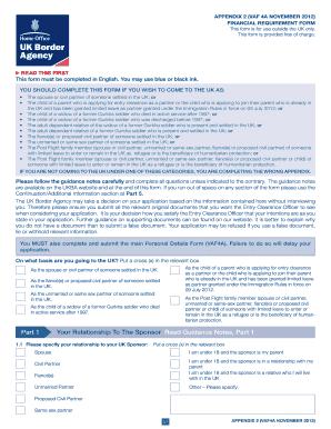 uk visa application form pdf vaf4a december 2013