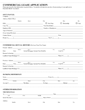 commerical lease form