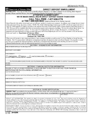 Va24 0296 - Fill Online, Printable, Fillable, Blank | PDFfiller