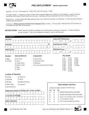 Dd Form 2795 - Fill Online, Printable, Fillable, Blank | PDFfiller