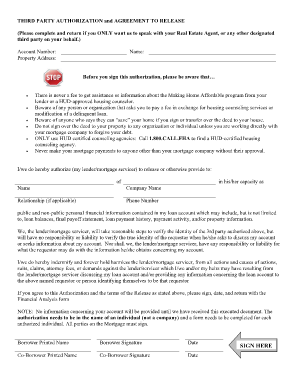 gmac 3rd party authorization form