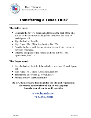 Fillable Online APPLICATION FOR TEXAS CERTIFICATE OF TITLE ...