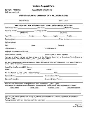doc visitation form oklahoma - PDFfiller