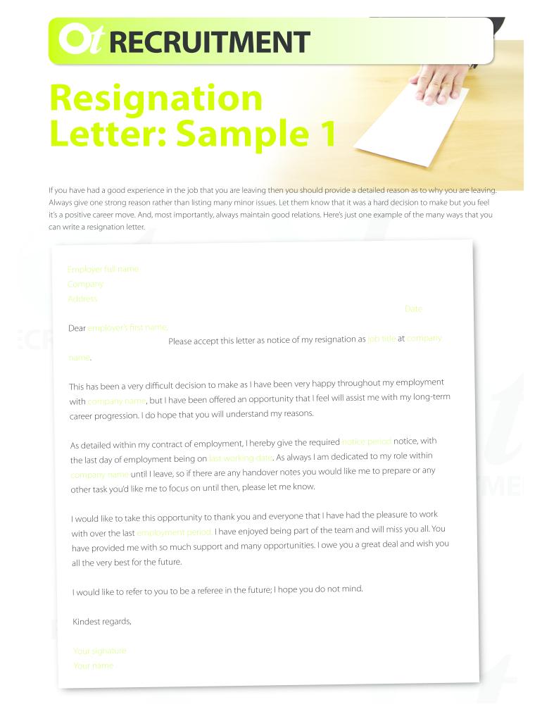 Employee Letter Of Resignation from www.pdffiller.com