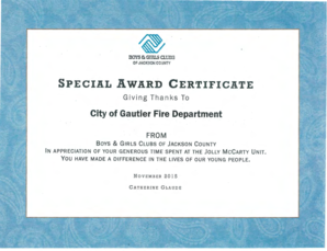 Fillable Online SPECIAL AWARD CERTIFICATE Fax Email Print ...