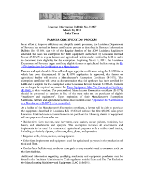 Louisiana Manufacturers Exemption Certificate R 1071 Form - Fill ...