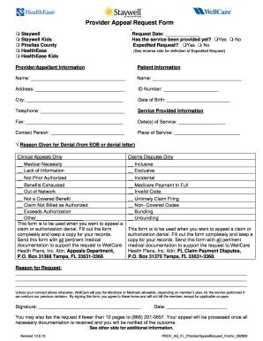 Wellcare Appeal Form - Fill Online, Printable, Fillable, Blank ...