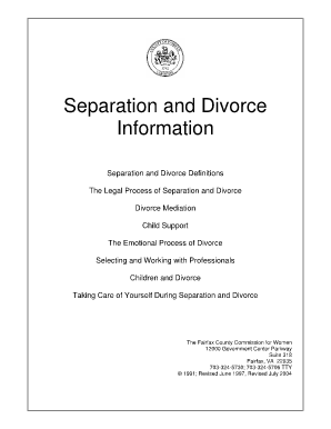 Commonwealth Of Virgina Report Of Divorce - Fill Online, Printable ...