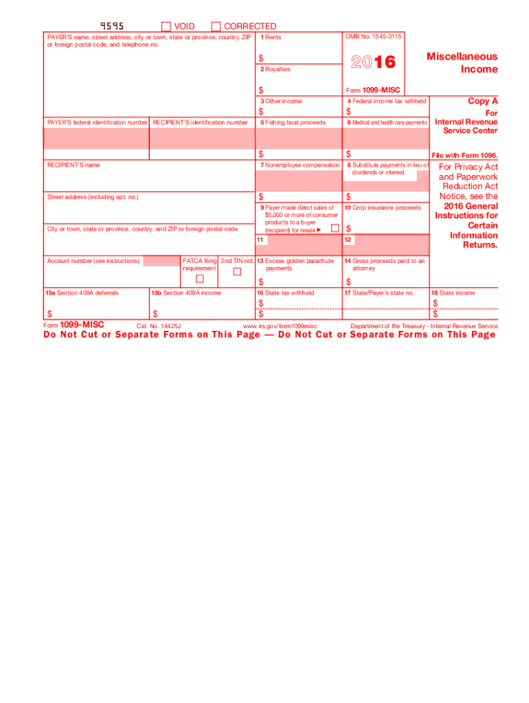 free printable 1099 form 2018  5 Form IRS 5-MISC Fill Online, Printable, Fillable ...