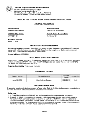 Editable pre hipaa medical dispute letter   Fill, Print & Download