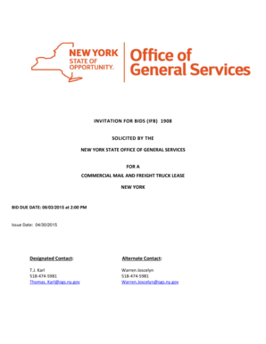 Commercial Mail and Freight Truck Lease - ogs ny