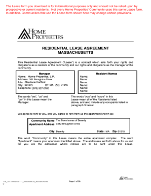 Ma residential agreement fill online printable fillable blank ma residential agreement related content lease platinumwayz