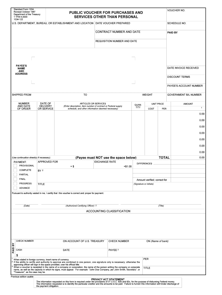 standard form 1034  9-9 Form SF 9 Fill Online, Printable, Fillable ...