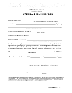 Fillable Lien Waiver Wa State Fill Online Printable Fillable