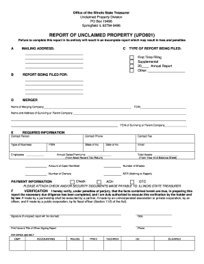 Illinois Unclaimed Property Reporting - Fill Online, Printable ...
