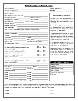 appartment pdf online form Fill Online, Printable, Fillable, Blank ...