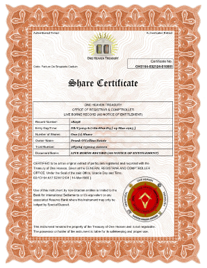 Fillable Share Certificate Ms Word - Fill Online, Printable ...