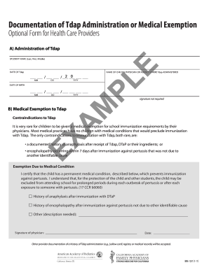 tdap information sheet