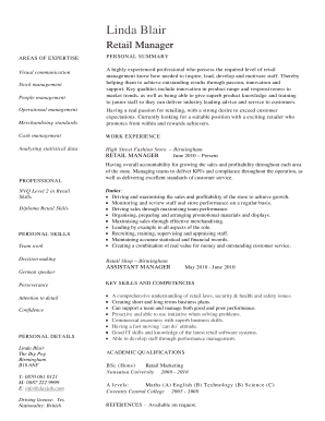 Editable Office manager cv examples Fill Out Print Resumes