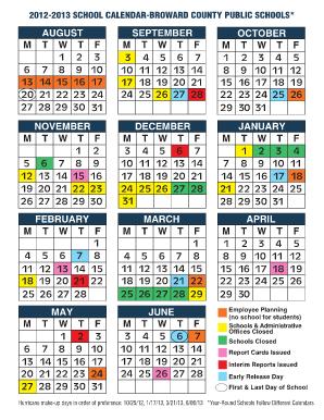 Broward Schools Calendar Fill Online Printable Fillable Blank