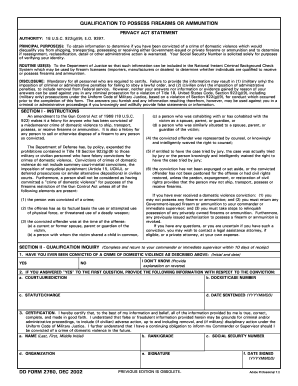 Dd Form 2760 Qualification To Possess Firearms - Fill Online ...