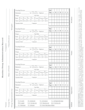 Fillable Medication Administration Record - Fill Online, Printable ...