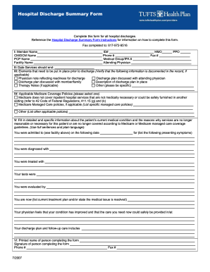 Fake Discharge Papers Fill Online Printable Fillable