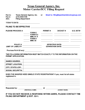 Texas motor carrier e2 form fill online printable for Motor carrier number lookup