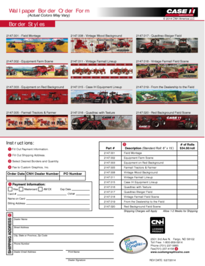 Case IH Wallpaper Order Formai
