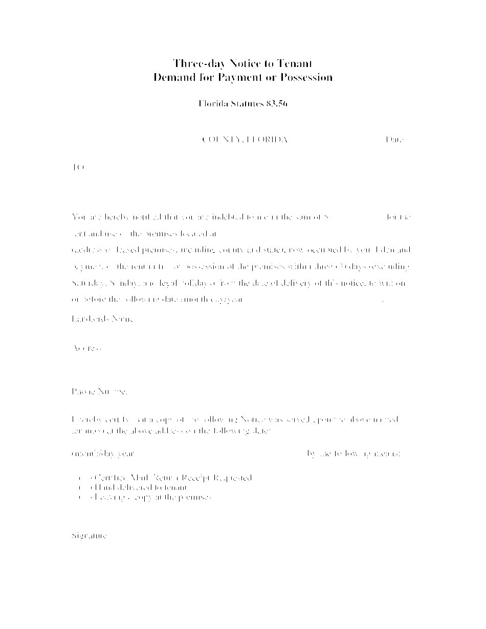 notice of nonrenewal of lease by landlord florida pdf