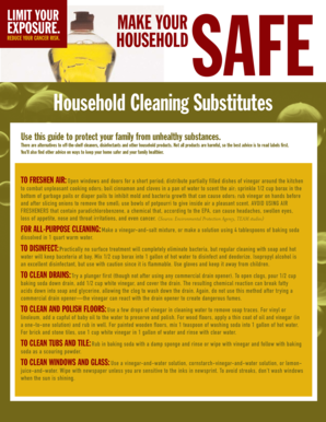 Household Cleaning Substitutes - dhss delaware