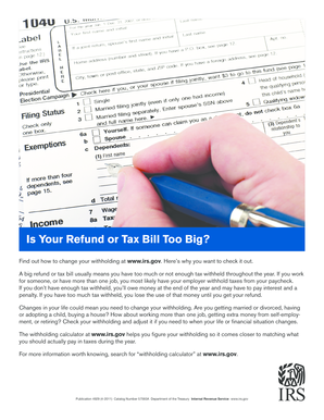 Publication 4929 Rev 4-2011 Withholding Flyer - irs