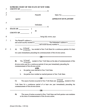 Ny Uncontested Forms - Fill Online, Printable, Fillable, Blank ...