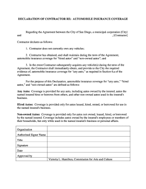 Auto Insurance Declaration Page Template - Fill Online ...