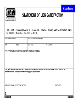 Oregon Dmv Lien Satisfaction Form - Fill Online, Printable ...
