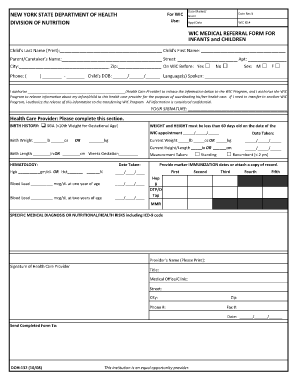 Medical Referral Form For Wic - Fill Online, Printable, Fillable ...