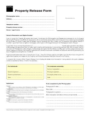Property Release Form Alamy Design Ideas