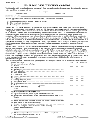 Seller Disclosure Form - Fill Online, Printable, Fillable, Blank ...